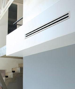 climatisation intégrée dans le mur